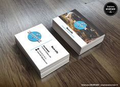 Cartes de visite pour l'agence de voyage - Buca-Life