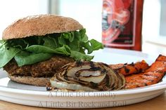 Where's the beef? Not here! (But you'll never miss it.) Grilled Brown Rice Lentil Burgers from A Little Bit Crunchy A Little Bit Rock and Roll. #vegetarian