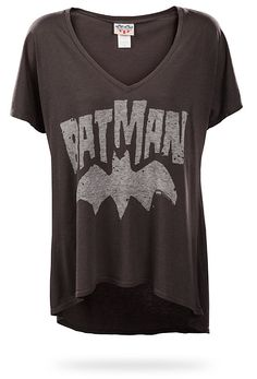 I may have a thing for batman... this would be my second batman shirt...$24.99 ThinkGeek :: Batman Logo Relaxed Fit Ladies' Tee