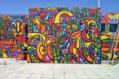 Resultado de imagen para mono gonzalez murales Wall Colors, Nature, Graffiti, Street Art, Mexico, Tapestry, World, Painting, Google