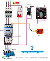 Esquemas eléctricos: Esquema conexión trifásico para bomba y flotador