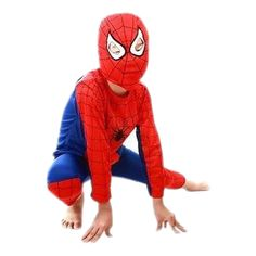 Little boys are just superheroes in disguise! Spiderman Outfit with Mask - Free shipping on every order!