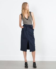 Image 1 of SKIRT WITH SLIT from Zara