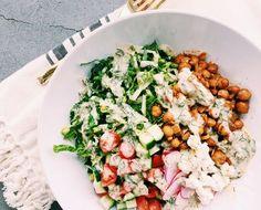 Recipes — Kale and Coconuts Chickpea Recipes, Vegan Recipes, Chickpea Meals, I Want Food, Shawarma, Plant Based Recipes, Kale, Cobb Salad, Coconuts