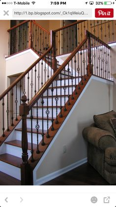 Escaleras Indoor Stair Railing Iron Railings Banisters Spindles Staircase