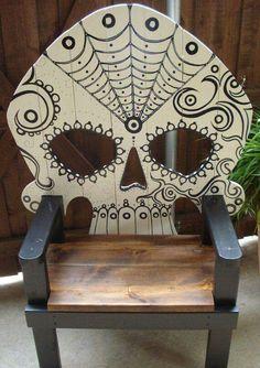Sugar skull chair
