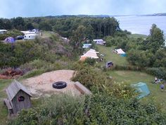 The beautiful view of the terraces on the pitches, the lake, the beach and the sourrounding forrest Outdoor Life, Outdoor Fun, Places To Travel, Places To Go, Travel Camper, Denmark Travel, Van Camping, Legoland, Campsite