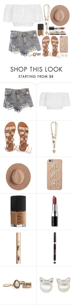 """""""The Greatest"""" by iarsotelo ❤ liked on Polyvore featuring Miguelina, Billabong, Forever 21, Calypso Private Label, MICHAEL Michael Kors, NARS Cosmetics and Bobbi Brown Cosmetics"""