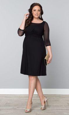 Morgan Mesh Dress, Black Noir (Womens Plus Size) From The Plus Size Fashion At www.VinageAndCurvy.com