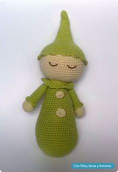 Con hilos, lanas y botones: Payasete dormilón