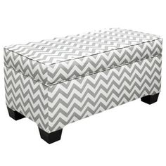 Chevron Storage Bench....perfect for at the end of the bed!