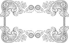 Quilling design pattern for a Frame