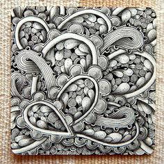 """Lily's Tangles: Diva's Weekly Challenge #221: """"Beads of Courage"""" and my weekly tiles."""