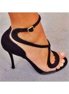 Shoespie Transparency Black Sandals - Shoespie.com