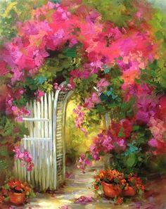 Resultado de imagen para bouganville porch painting