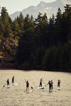 SUP yoga @ Wanderlust Whistler 2012 Into The Wild, Okinawa, Adventure Awaits, Adventure Travel, Oh The Places You'll Go, Places To Visit, Sup Stand Up Paddle, Paraiso Natural, Sup Yoga