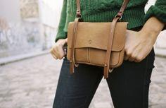 Bleu de Chauffe | Women I Leather satchel bag. Sac Pastel cuir | Made in France