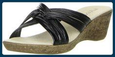Vista Damen Pantoletten schwarz, Größe:39;Farbe:Schwarz - Clogs für frauen (*Partner-Link)