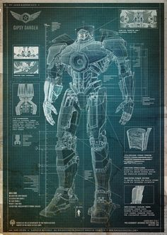 Pacific Rim Jaeger Blueprints