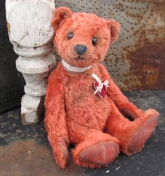 """Potbelly Bears """"Old Timer"""" #1. He's been a long time coming. See more at http://www.potbellybears.com/p/available.html"""