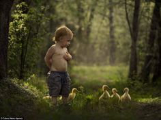 boy with a goose