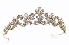 Marina - Regency Style Crystal Gold Tiara