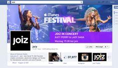 joiz - multimedial, viele Gewinnspiele/Verlosungen, Tickets etc. Unterhaltend. Ticket, Social Tv, Katy Perry, Lady Gaga, Itunes, Messages, Facebook, Concert, Movies