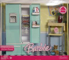 Barbie Home Refrigerator and Cart Kitchen Playset by Mattel