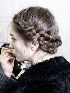 "abigaildonaldson: "" Marine Deleeuw backstage at Viktor & Rolf Fall/Winter 2013 "" #hair"