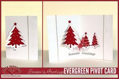 Karen Burniston for ECD with a Seasons Evergreen Pivot Card; Oct 2014