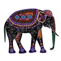 Wallmonkeys WM356734 The Cheerful Elephant Peel and Stick Wall Decals (24 in W x 17 in H)