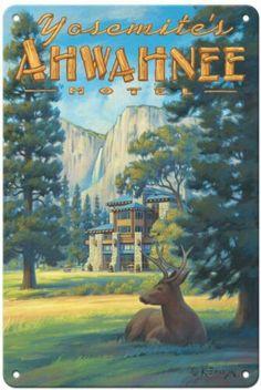 National Park Lodges, Us National Parks, Yosemite National Park, Poster Print, Retro Poster, Travel And Tourism, Travel Usa, Vintage National Park Posters, Vintage California