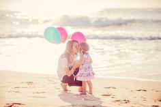 Taken at the beach | Newcastle Family Photographer | Balloons