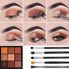 eye makeup tutorial * eye makeup ` eye makeup tutorial ` eye makeup art ` eye makeup for brown eyes ` eye makeup natural ` eye makeup for blue eyes ` eye makeup tips ` eye makeup tutorial for beginners Makeup Eye Looks, Eye Makeup Steps, Simple Eye Makeup, Smokey Eye Makeup, Eyebrow Makeup, Skin Makeup, Eyeshadow Makeup, Eyeshadow Palette, Natural Eyeshadow