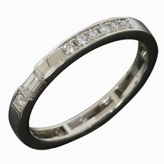 Harry Winston 950 Platinum Diamond Accent Ring US Size 8 With Box Harry Winston, Fine Jewelry, Wedding Rings, Jewels, Engagement Rings, Bracelets, Vintage, Diamond, Box