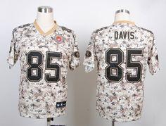2013 San Francisco 49ers 85# Vernon Davis  Camo  Jerseys