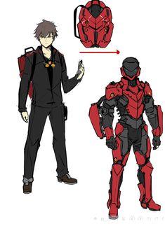Fantasy Character Design, Character Design Inspiration, Character Concept, Character Art, Robot Concept Art, Armor Concept, Weapon Concept Art, Arte Robot, Robot Art