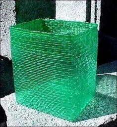 Cestos y cajas de plastico - 08/10 Manualidades con botellas de plástico