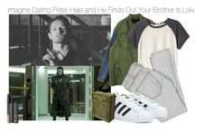 """Imagine Dating Peter Hale and He Finds Out Your Brother Is Loki"" by fandomimagineshere ❤ liked on Polyvore featuring Rebecca Taylor, Current/Elliott, NARS Cosmetics and adidas"