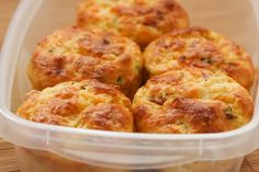Cottage Cheese and Egg Breakfast Muffins Recipe with Ham and Cheddar [from Kalyn's Kitchen]