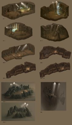 Cave design by ~wanbao on deviantART