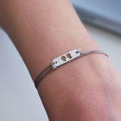 Love this Le Papier Studio laser-cut silhouette bracelet!