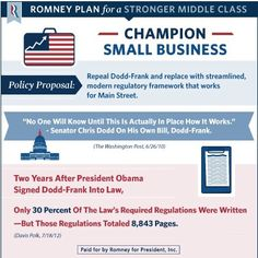 Romney Plan for a Stronger Middle Class: Champion Small Business