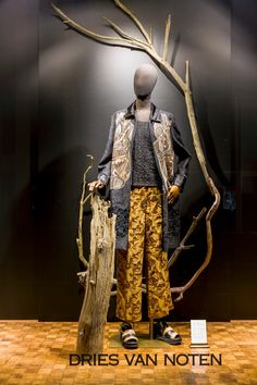 """DRIES VAN NOTEN, introducing Spring/Summer, """"Family........like branches on a tree our lives may grow different directions but our roots will stay as one!!"""", pinned by Ton van der Veer"""