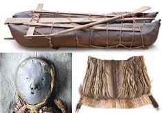 Changos - Fotografía a color de una momia, las representaciones de una canoa y el vestuario que habría ocupado este pueblo Bucket Bag, Bags, Teacher, Colorful Nails, Social Science, Wolves, Prayers, Leather, History