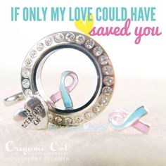 This blue & pink ribbon honors all of the little precious lives that were lost too soon due to a miscarriage. This is a beautiful reminder of your little angel that is still with you and looking over you. www.jessicacooper.origamiowl.com