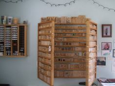 stampin up rubber stamp display shelf by YooperStampinStuff, $140.00
