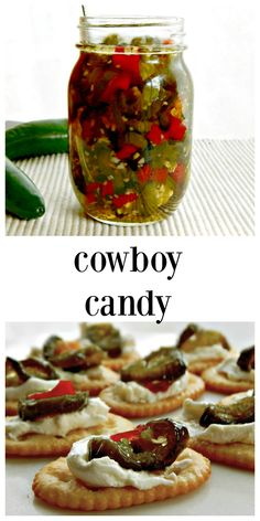 Cowboy Candy Sweet Hot Pickled Peppers are like pickled jalapenos x infinity. Killer hot but tempered by a little sweet, use as a condiment or in a dish! Pickled Pepper Recipe, Pickled Hot Peppers, Pickled Veggies Recipe, Pickling Hot Peppers Recipe, Canning Hot Peppers, Pickled Onions, Hot Pepper Recipes, Jalapeno Recipes, Jalapeno Ideas