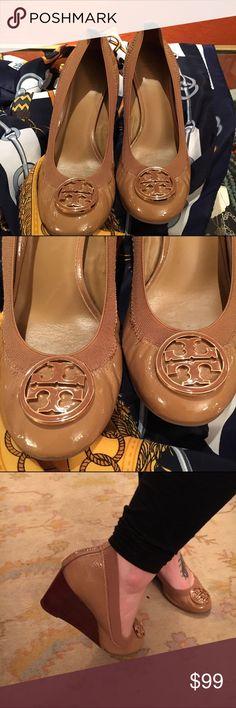 Tory burch wedge shoes Tory burch camel wedge shoe Tory Burch Shoes Wedges