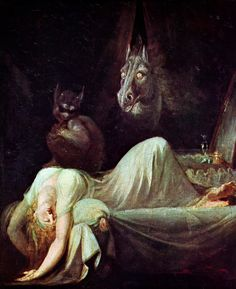 The Nightmare (Mary Shelley used this painting as inspiration for the scene in Frankenstein where Elizabeth is found.) by Fuselli